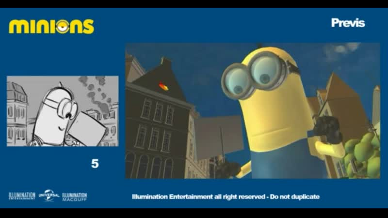 Minions Layout Previs reel