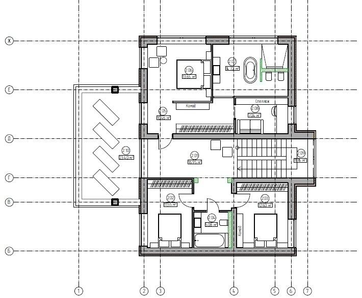 Эскизный проект дома 300 кв.