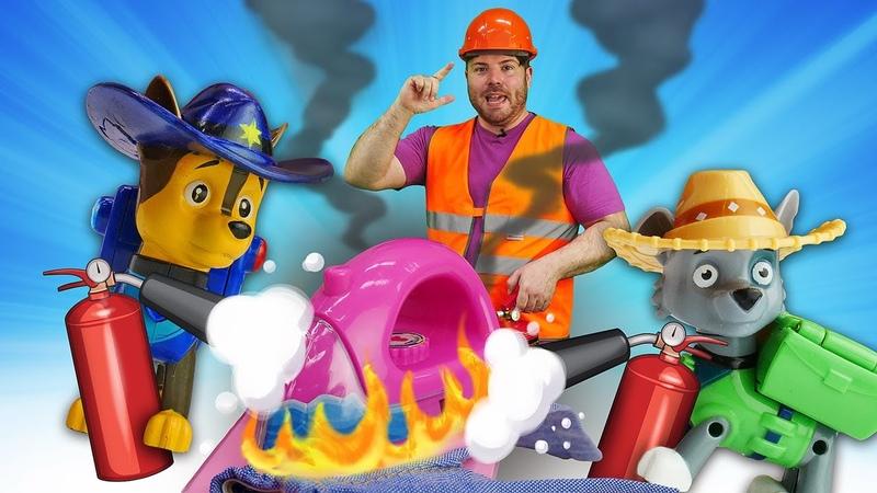 Master Toc Toc e i Paw Patrol spengono l'incendio Pompieri in azione Giochi educativi per bambini