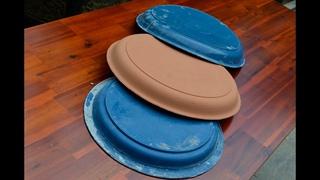 Casting Cement Pots From Plastic Pots / Construçao de vaso para Bonsai e Penjing