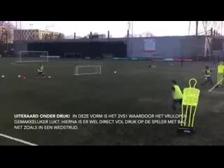 Good way to teach a good first touch under pressure
