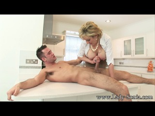Mature Pornstar Lady-Sonia - Playtime With A Huge Young Stud