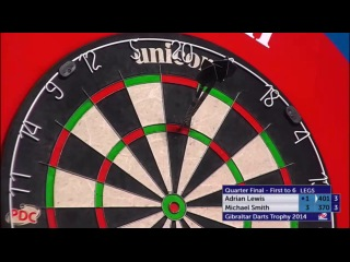 Adrian Lewis vs Michael Smith (PDC Gibraltar Darts Trophy 2014 / Quarter Final)
