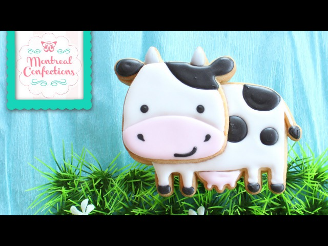How to Make Cow Cookie Farm Themed Cookie