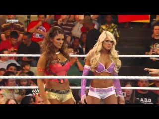 WWE Raw 10/03/11 - Kelly Kelly & Eve vs. Beth Phoenix & Natalya