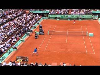 Federer vs Nadal French Open 2011 Amazing Point