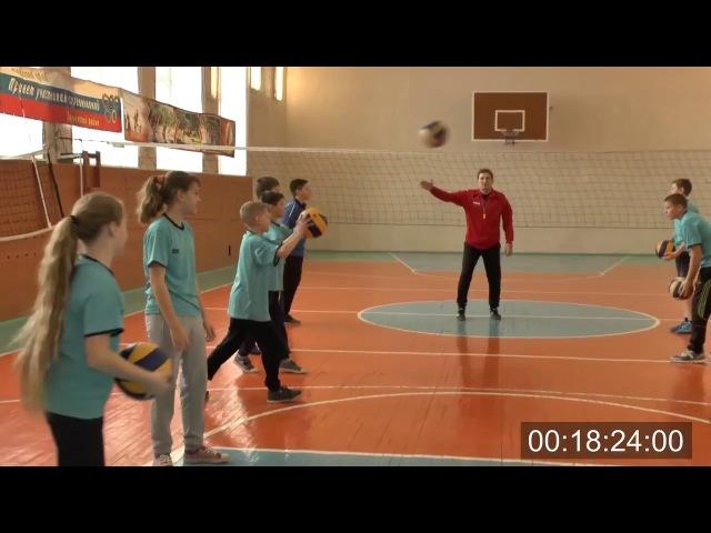 Урок физической культуры по волейболу в 5 классе Учитель Пивоваров Евгений Васильевич