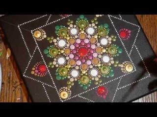 How to paint dot mandalas with Kristin Uhrig #32- Triple Rose Bud