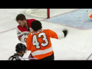Brad Malone vs Brandon Manning Apr 9, 2015