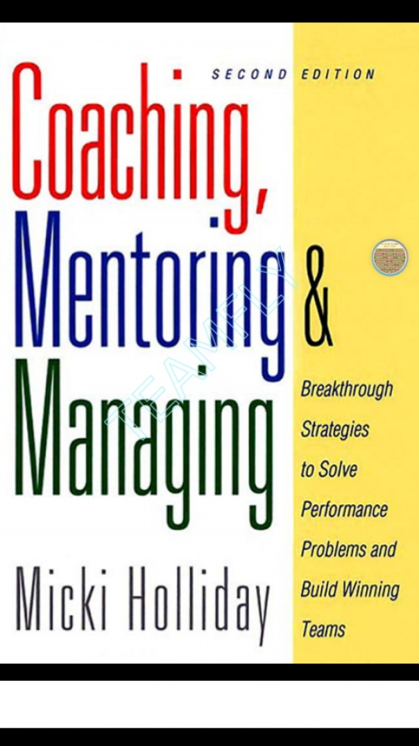 Coaching Mentoring And Managing Breakthrough Strategies