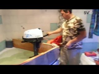 Обкатка лодочного мотора Ямаха в ванной.