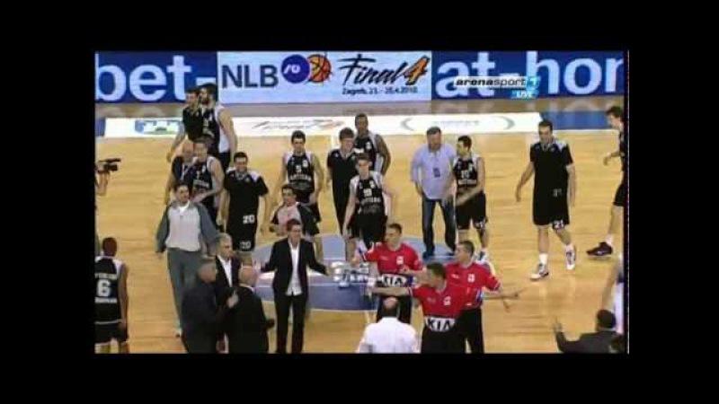 """Cibona PARTIZAN 74 75 25 04 2010 """"Dušan Silni"""