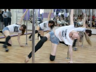 День Рождения школы танцев Beauty Linsale. Выступление группы по Exotic pole dance.