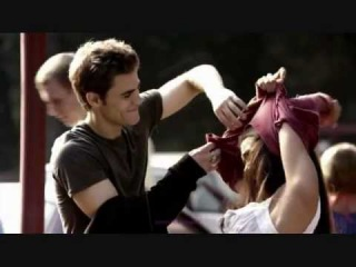 The Vampire Diaries Stefan and Elena Sorry so not sexy 1x05