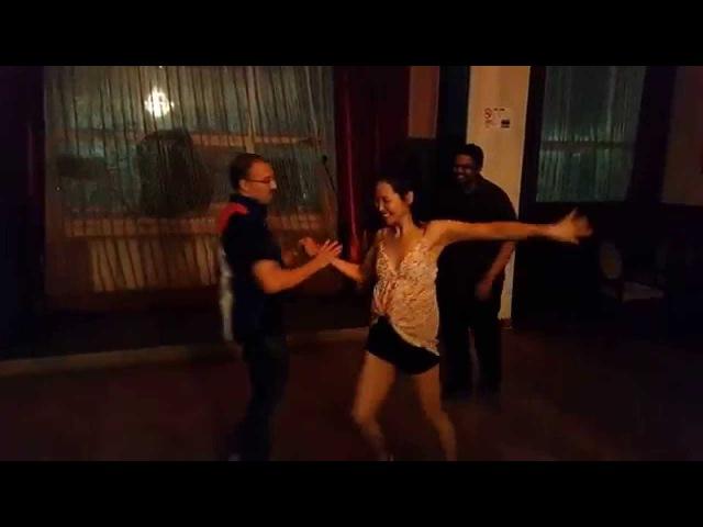 Esteban Isnardi dancing social in Mongolia improvised