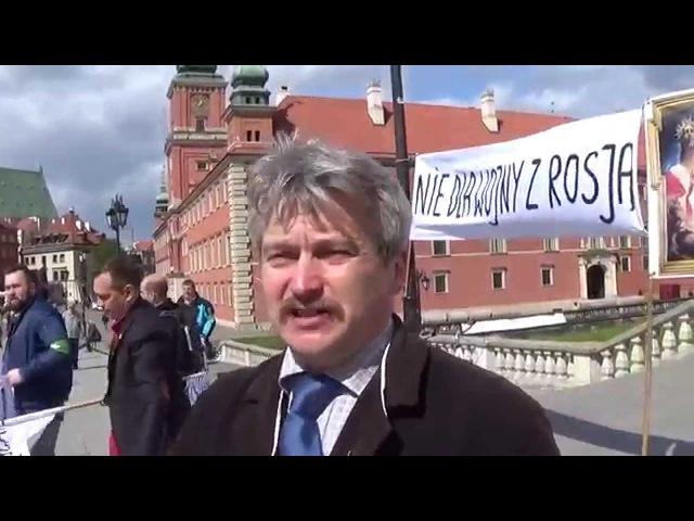 Nie dla wojny z Rosja referendum uliczne Warszawa