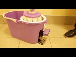 #уборка #швабра Спин Моп (Spin Mop New) ведро с отжимом и полосканием