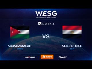 [RU] aboshamalah  vs SliCe N' Dice, game 1, WESG Dota 2 Africa & Middle East LAN Finals