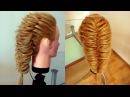Коса воздушный Рыбий хвост. Греческая коса. Техника трёх кос. Видео-урок