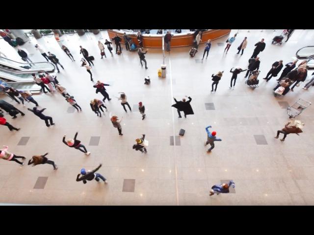 Флэшмоб в Домодедово танцуют все Flash mob in Domodedovo Airport