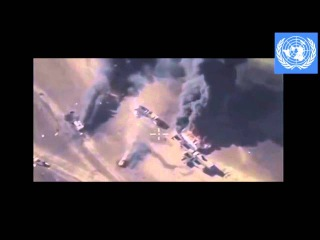 Syrian Military Report 25 Dec 2015 Russian attack on convoy of fuel trucks at the border of Turkey