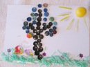 Делаем аппликацию - Свинка Пепа и Джордж сажают дерево. Видео для детей /children's crafts
