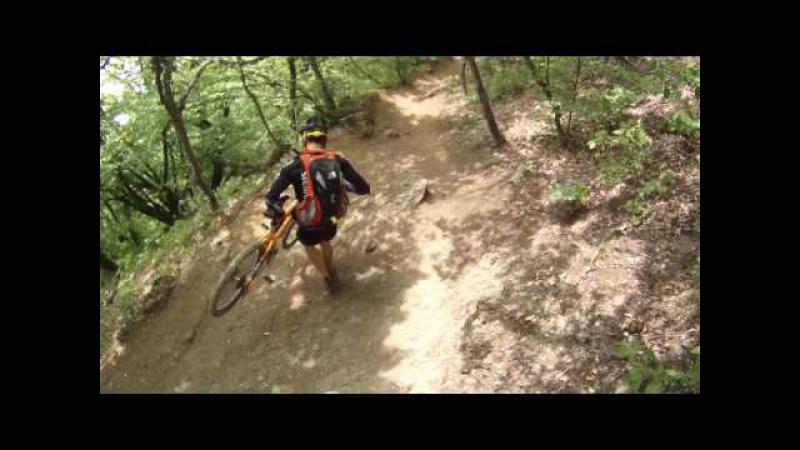 Спуск по Коровьей тропе с Демерджи Downhill from Demerdji mountain Crimea