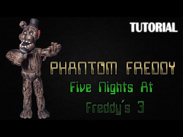 Tutorial Phantom Freddy en Plastilina FNaF 3 Phantom Freddy Clay Tutorial