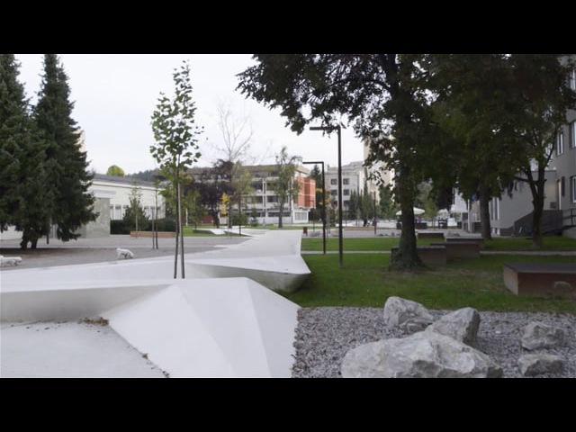 Velenje City Center Walk Promenada ENOTA Architects