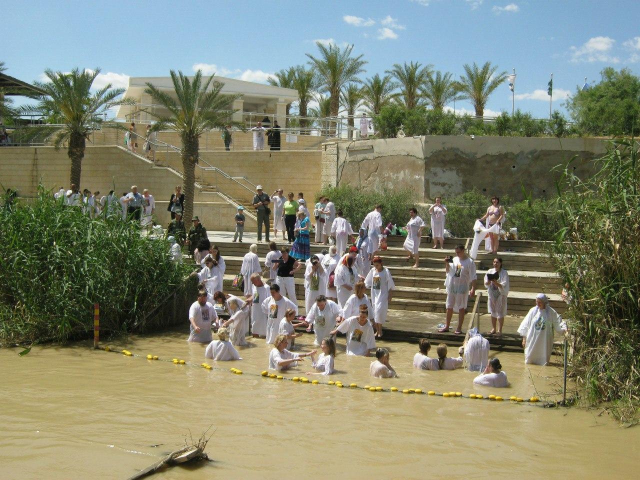 На Израильской стороне места крещения Иисуса Христа