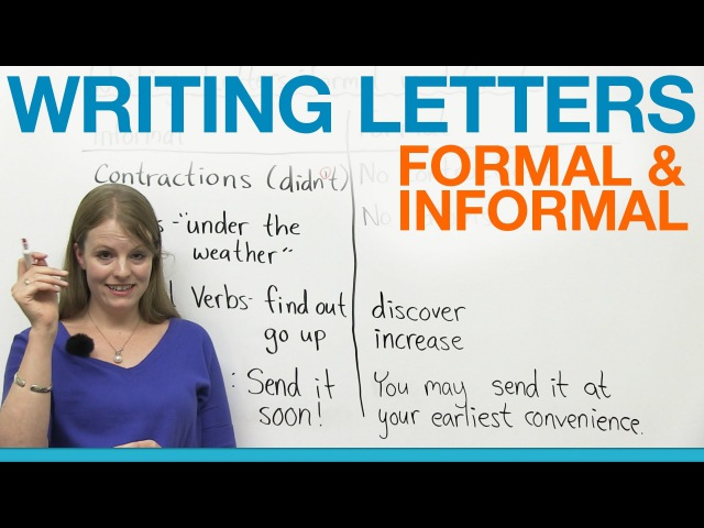 Writing Letters formal informal English