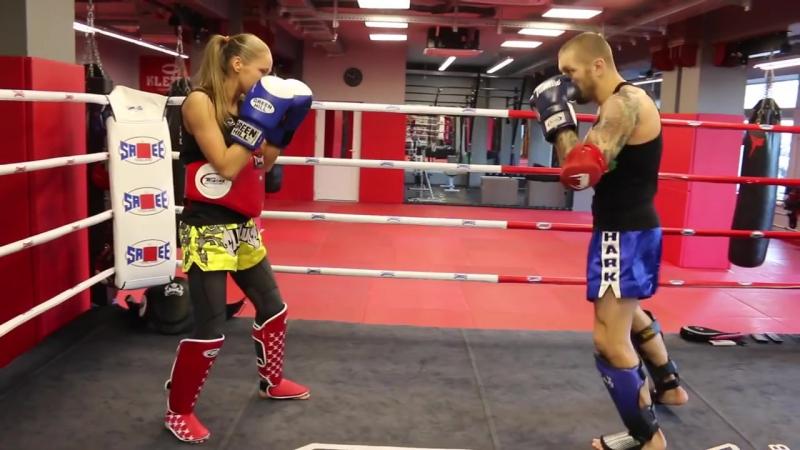 Обманки и финты в тайском боксе Андрей Басынин и Светлана