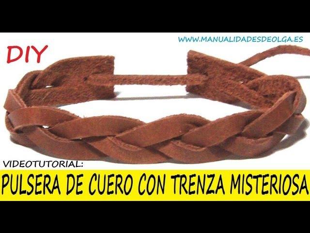 COMO HACER UNA PULSERA CON TRENZA MISTERIOSA DE CUERO PARA HOMBRE VIDEOTUTORIAL TUTORIAL DIY