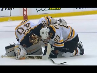 Brandon Prust Spears Brad Marchand to the Groin