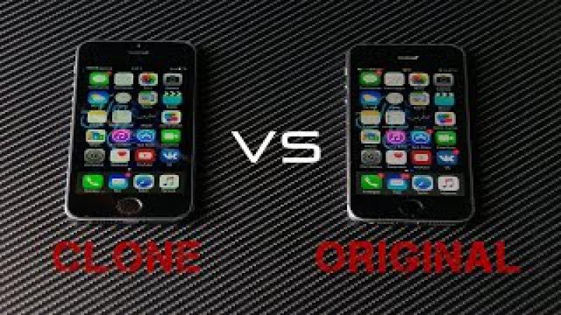 IPhone 5S Копия MTK6582 VS iPhone 5S Оригинал iPhone 5S оригинал и копия