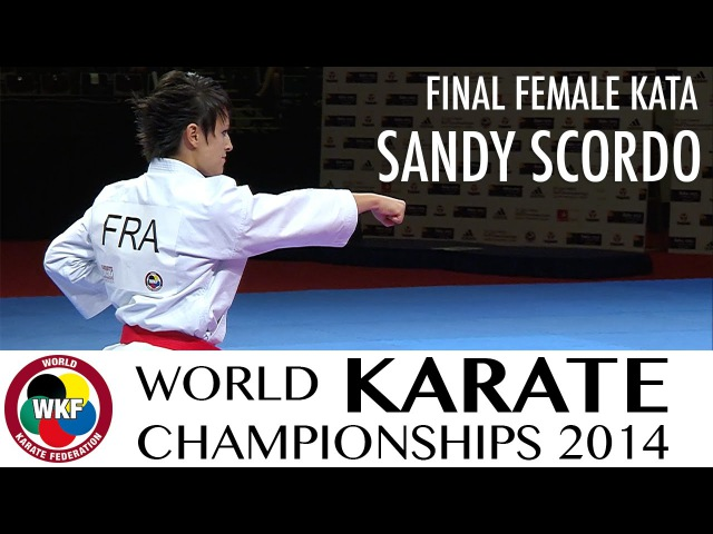 Sandy SCORDO of France. Kata Unsu. FINAL. 2014 World Karate Championships
