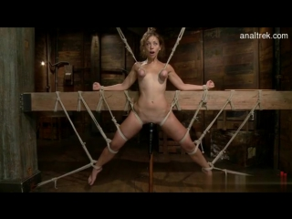 Horny student eating cum + bondage and devices
