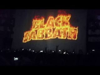 The opening of Black Sababth Concert in  Vienna (Wien) . 2016