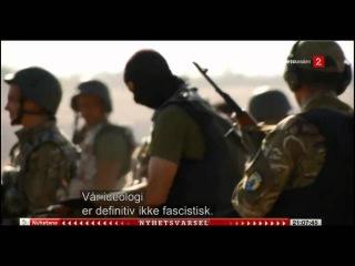 Норвежское телевидение о Батальоне Азов, в конце 1 ой минуты свастика на касках