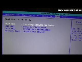 Как зайти и настроить BIOS ноутбука Lenovo G570 для установки WINDOWS 7