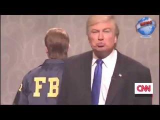 Alec Baldwin's Trump kisses the FBI, Putin and the KKK on SNL