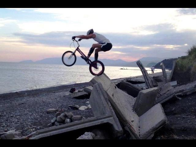 Purple friend Mikhail Sukhanov Biketrial Велотриал