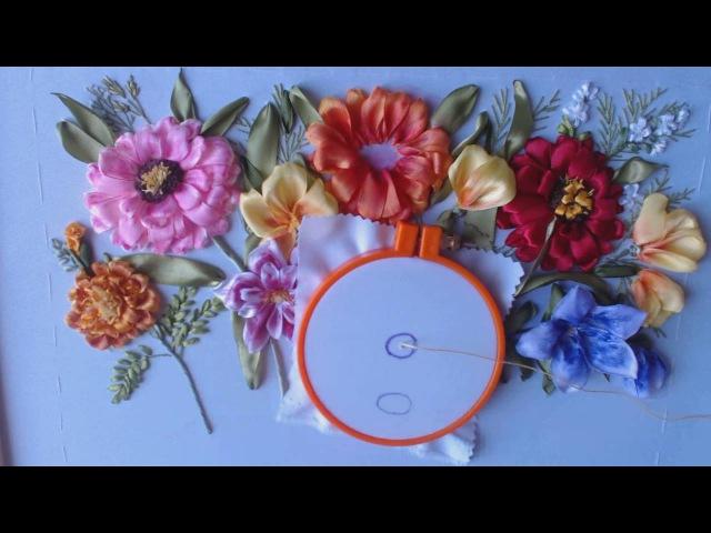 Цветущее лето - Вышивка георгина