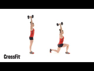 The Dumbbell Overhead Walking Lunge