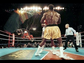 Holyfield vs bowe ii infamous round 7 parachute incident (boxing)