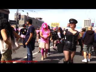 Mistress alice - folsom street fair public humiliation - crossdressing leash laws