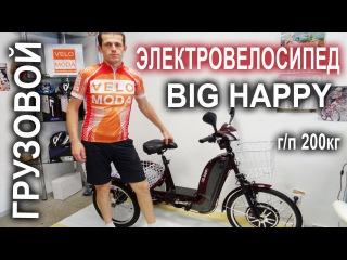 Трехколесный грузовой электровелосипед Big Happy - Китайское счастье