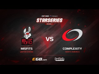 Misfits vs compLexity, map 2 train, SL i-League StarSeries Season 3 NA Qualifier