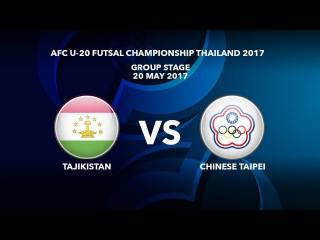#AFCU20FC THAILAND 2017 - M42 Tajikistan vs Chinese Taipei - Highlights