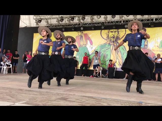 Laborde 2017 Festival Nacional del Malambo Ensayo de un cuarteto malambo de Santiago del Estero
